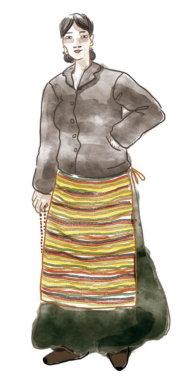 look ethnique tibet