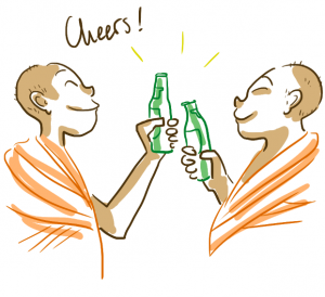 moines bouteilles