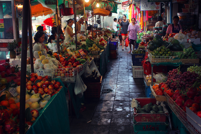 marché fleurs bangkok