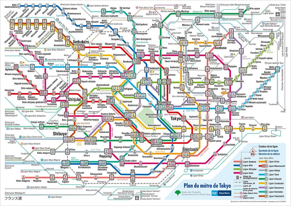 Métros de Tokyo